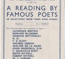 A reading by famous poets of selections from their own works.