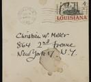 Envelope addressed to Christian William Miller by artist Paul Cadmus