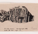 Drawing of fish bottle by Marianne Moore
