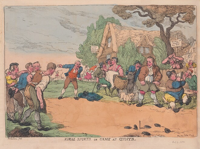game of quoits by Thomas Rowlandson.