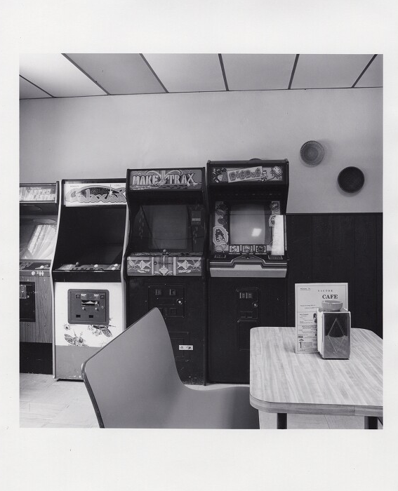 Photograph of video arcade games by David Plowden