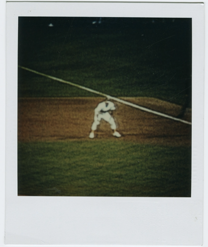 Photograph of televised baseball game by Jonathan Williams