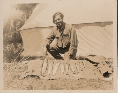 Ernest Hemingway with fish