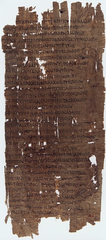 Papyrus fragment of Homer's Iliad