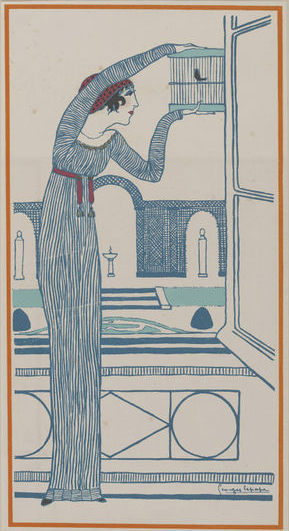 Fashion plate from Les Choses de Paul Poiret vues par Georges Lepape