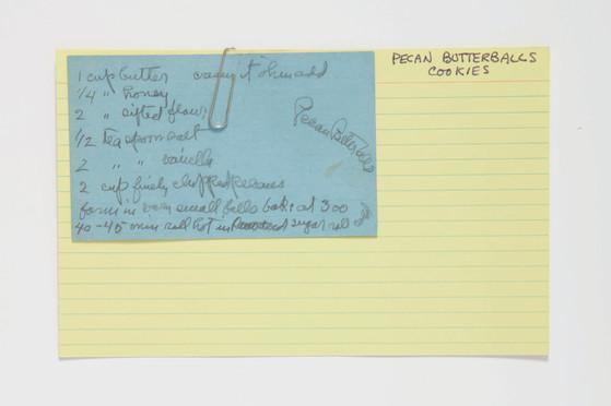 Georgia O'Keeffe's Recipe Cards, image courtesy of Sotheby's