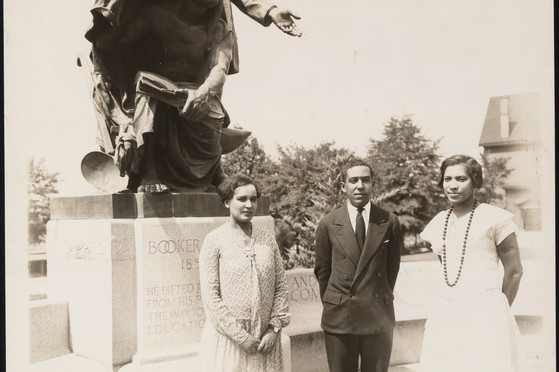 Photograph of Zora Neale Hurston, Langston Hughes, & Jessie Fauset, 1927 -- Tuskegee summer  From: Langston Hughes papers